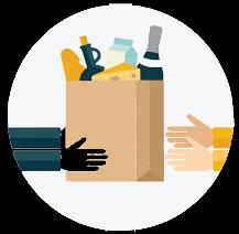 Spesa e consegna farmaci a domicilio
